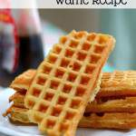Don't buy freezer waffles from the store. Make this light and fluffy waffle recipe at home. All you need is a waffle iron and this recipe.