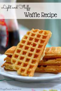 Light and Fluffy Waffle Recipe
