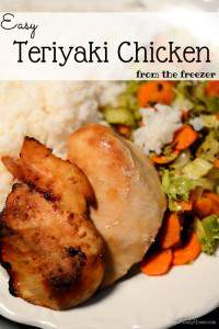 Cooking for the Freezer, Teriyaki Chicken