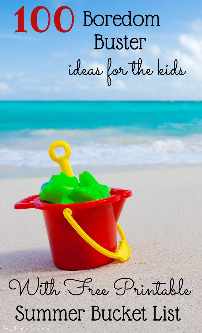 Got bored kids? Try a few {or many} of these 100 Summer fun ideas for kids. These summer fun activities and kids crafts will keep your kids busy for hours this summer. Plus there's a free summer bucket list printable too.