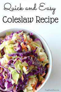 Summer Side Dish, Easy Coleslaw Recipe