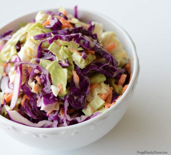 Make this delicious side dish for your next BBQ. It a super quick and easy coleslaw recipe.
