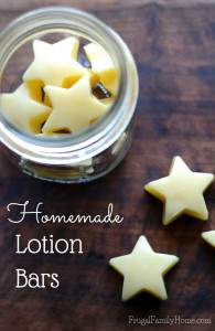 We use a lot of lotion around our house. Some lotions have lots of additive I don't care to put on my skin. If you're like me you'll want to try this diy lotion bars recipe. It takes just three ingredients to make. It's great for that summer or winter dry skin that can be so dry. I store my lotion bars in a mason jar right on the bathroom counter so they are easy to use.