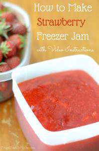 How to Make Strawberry Freezer Jam, with Video