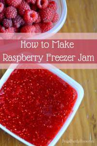 Raspberry Freezer Jam Recipe, with Video Tutorial