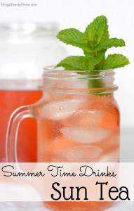 Summer Time Drinks, How to Make Sun Tea