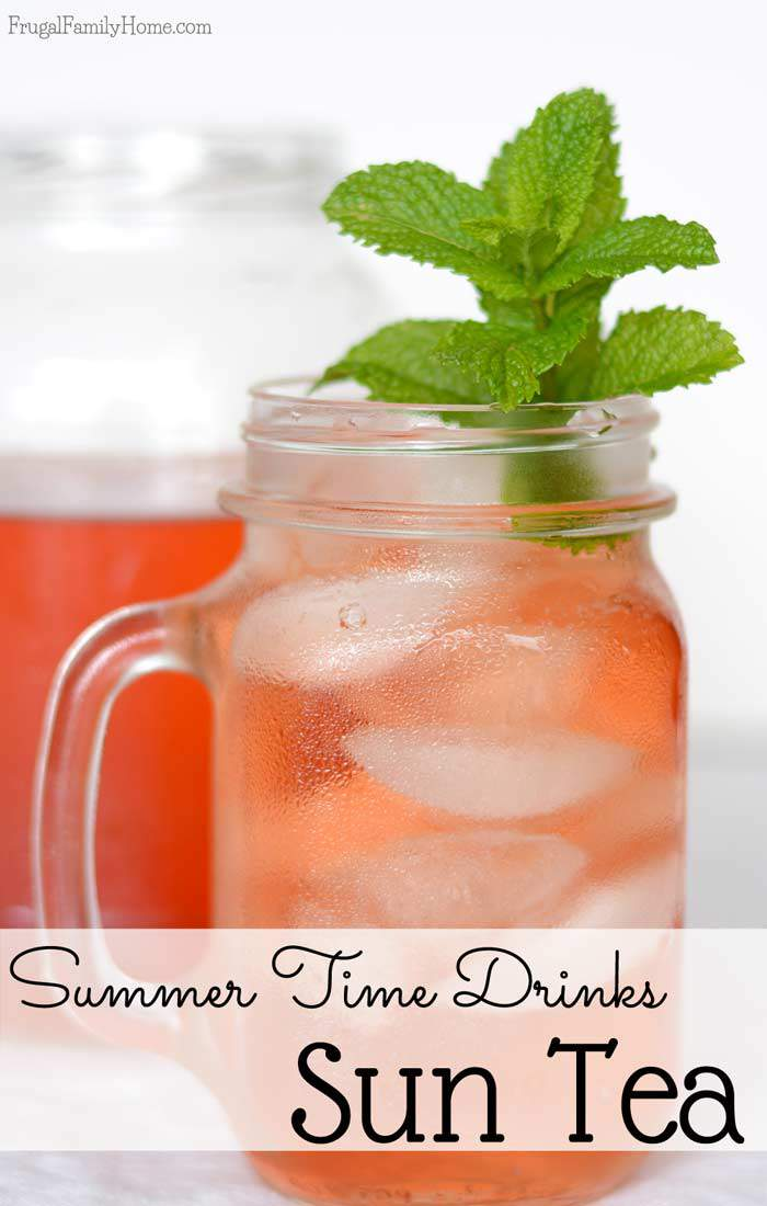 When it's hot outside is a great time to make DIY sun tea. If you've never made sun tea it super easy. Only two ingredients are needed and one is water. It's a great summer drink to have on hand on those hot summer days. Come on over and see how easy this sun tea recipe really is.