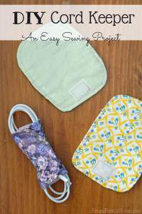 Easy Beginner Sewing Project, Cord Keepers