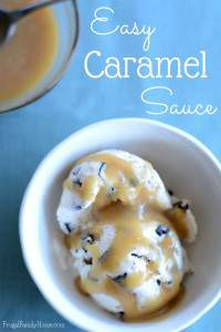 Summer is a great time to enjoy yummy ice cream. But ice cream is always better with a little topping on it, don't you think? If you like caramel, you'll love this easy caramel sauce recipe. This easy caramel sauce only takes a few ingredients you probably have sitting in your kitchen right now. Best of all this easy caramel sauce recipe can be made dairy free too.