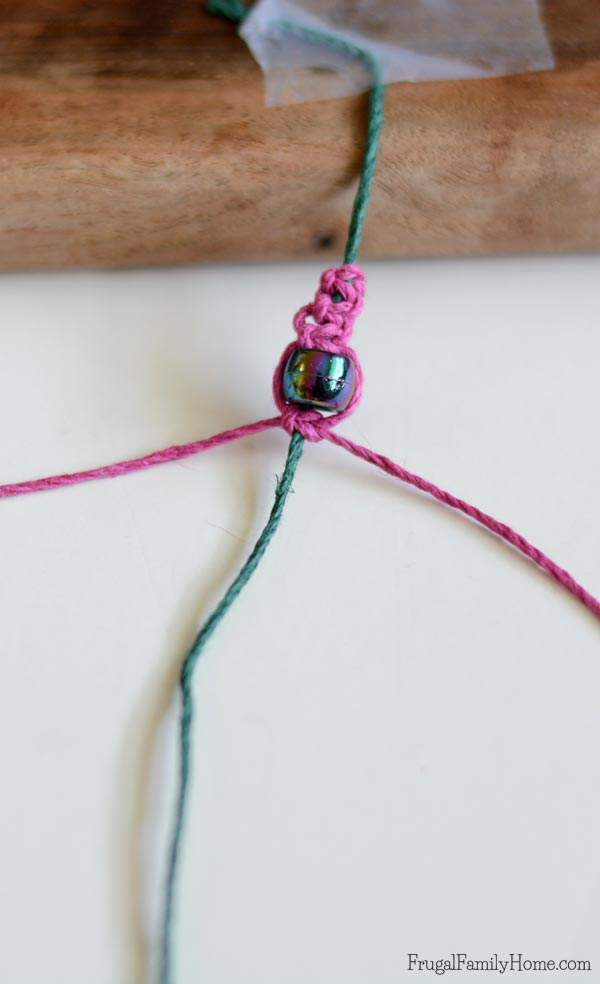 Doing DIY project with the kids is something that is really fun. My daughter loves to create things and if you kids love creating too, this is a fun summer project or these can make great christmas gifts.  This diy square knot hemp bracelet is easy to make. With these step by step instructions and video you're sure to succeed even if you've never made jewelry in the past.