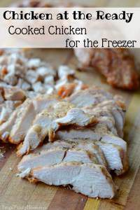 Having a few meals or meals starts in the freezer is sure a lifesaver on a busy day. Stocking the freezer is easier than you might think. I do quick session of freezer cooking to make meat packages. Here's how I make cooked chicken to have it ready and waiting in the freezer. I'm also sharing some my favorite chicken recipes that use the cooked chicken packages from the freezer.