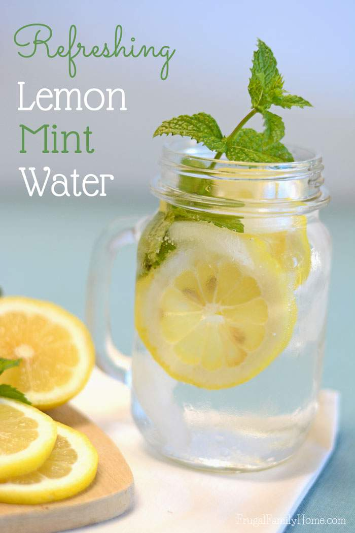 This summer drink recipe has fast become one of my favorites and I think it will become one of your favorites too. This lemon mint water recipe is super simple to make but oh so refreshing. Just two ingredients, well three ingredients if you count the water, 30 minutes and you have a refreshing summer drink.