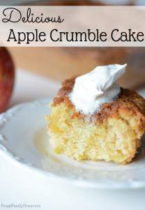 Easy to Make Apple Crumble Cake Recipe