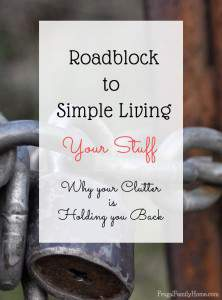 Road Block to Simple Living, Your Stuff