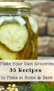 You can save money by cooking from scratch and making your own groceries. Find over 35 recipes for commonly purchased items that you can make at home and save money. I've included a mix of recipes from groceries to beverages and beauty recipe too. All of these recipes are tried and true ones we make at our home.