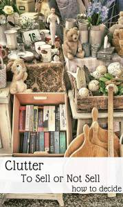 To Sell Clutter or Not to Sell