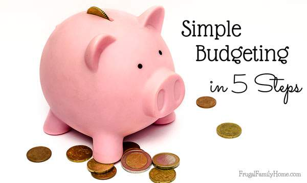 Setting up a monthly budget is so important. But it doesn't have to be hard. Here's how to set up a simple budget in just 5 steps.