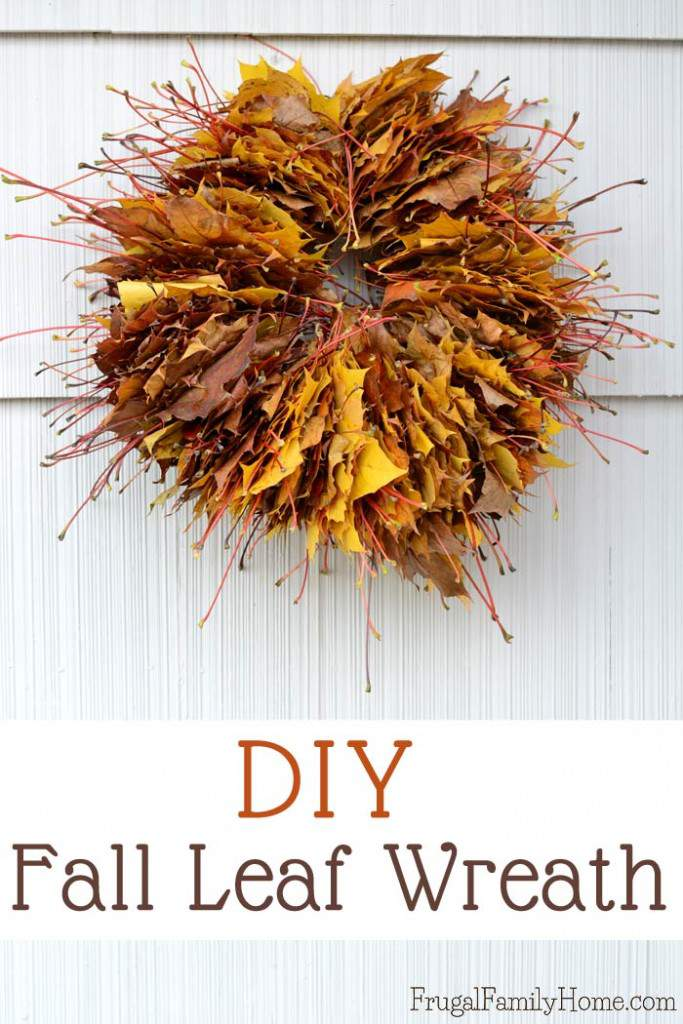 Need a cheap and easy Fall wreath? Try making these leaf wreath for your front door. It takes about an hour and two things, one of which is leaves. It's a great fall activity for the kids to help with too.
