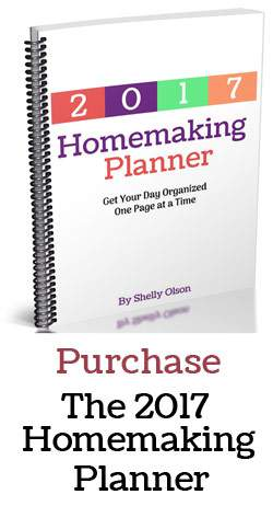 The new 2017 Homemaking planner