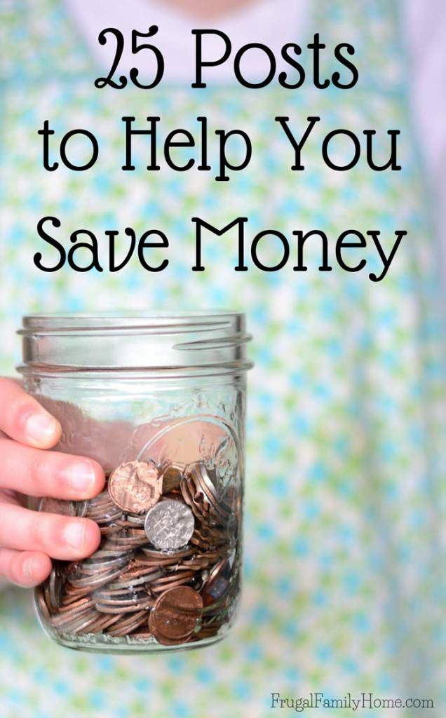 25 popular ways to be live a more frugal and simple life. From making your own foaming hand soap to save to gardening how to's. Plus there're simple living and budgeting ideas too. There sure to be something new for you.