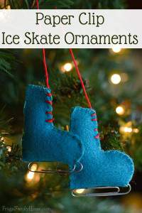Do you know someone who loves to ice skate? If you do you'll want to make them a set of these too cute felt ice skate ornaments. We made three sets of these felt ornaments in just about an hour and they turned out so cute.