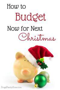 It's never too early to start budgeting for Christmas. I know when I start early in the year I can really have a nice amount to spend towards Christmas without any debt lingering into the New Year.