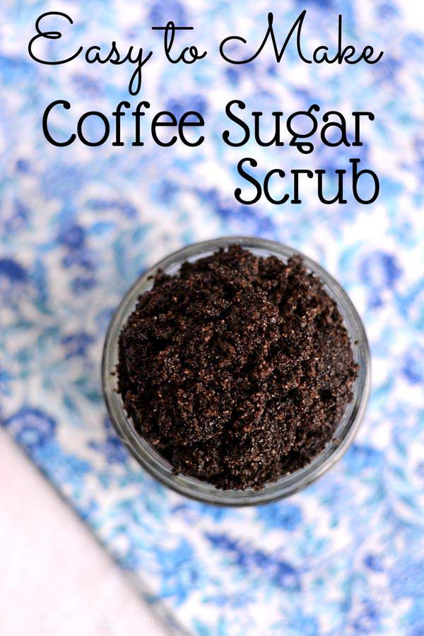 I love this idea for using coffee in a sugar scrub recipe. It's so easy to make only taking 3 ingredients and a few minutes. Makes my skin feel great too. Even though I don't like coffee this coffee sugar scrub is one I'll be making over and over again. This is a great one to make to deal with that winter dry skin or use in the summer to smooth out those rough dry spots on the skin. The coffee and sugar make great exfoliators. Plus you can upcycle your old coffee ground into this recipe too.