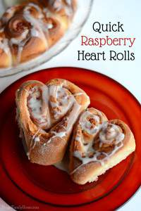 Homemade Raspberry Heart Rolls for Valentine's Day