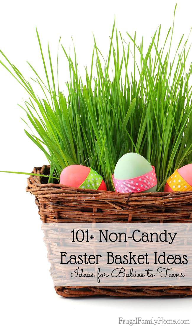 101 non candy easter basket ideas for babies to teen frugal an easter basket with eggs negle Images