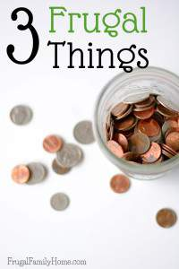 3 great frugal living ideas to help save money everyday. I know this year I'll be doing number 3 on this list.