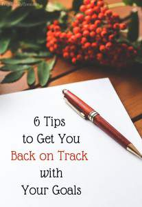 This is just what I needed to help refocus myself on my goals. If you are struggling with your goals, I'm sure these 6 tips with help. I know I'm not really good about doing number 5 but I'm going to start now.