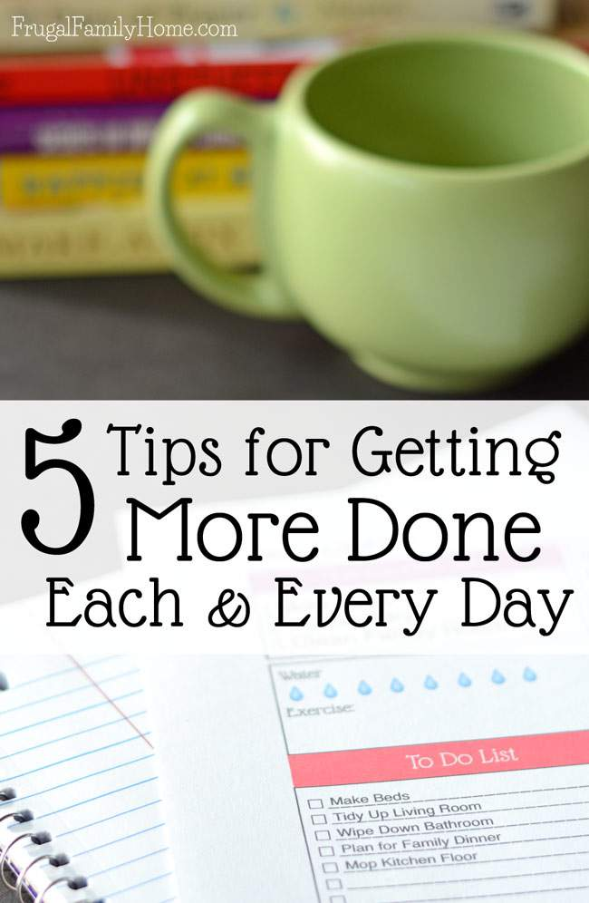 Does it often seem like your day is running you instead of you running your day? I know we can all have a bad day now and then but with these 5 tips you can make the most of each day and get more done. I know I struggle with number 4 often.