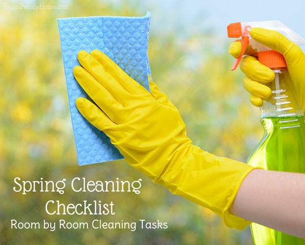 This free printable spring cleaning checklist is great to use as a guide. I know it makes getting my home spring clean fresh so much easier if I can check off each cleaning task as I go along. I love that it includes ideas for each room.