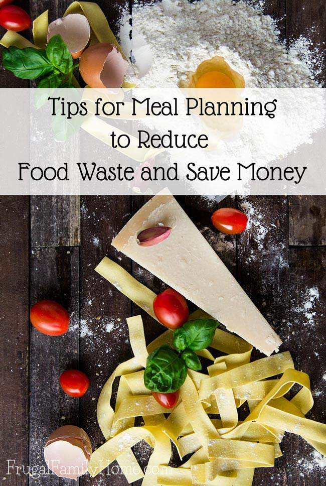 A few tips for getting started meal planning. When you meal plan each week or month you can really cut down on food waste and save money too.