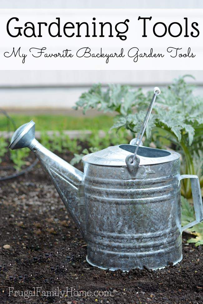 Don't waste money on gardening items you'll never use. Instead in invest in tools, you'll use again and again. I'm sharing my 5 favorite gardening tools right now. I'm sure you'll find something that will work in your backyard garden too. Plus links to more great gardening ideas.
