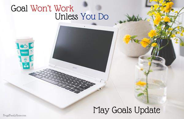 I'm updating my goals from April and sharing what my goal plan will be in May.