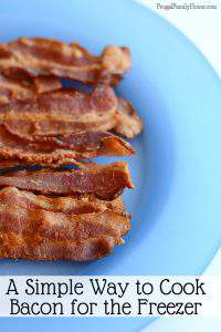 I love cooking bacon this way in the summer. The oven method of cooking bacon is great but who wants to heat up the house in the summer. This is a simple way to cook bacon without the mess or the oven. I'll make a pound or two of bacon at a time for the freezer and have bacon for recipes too.