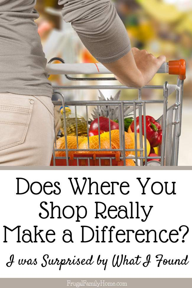 Who would have thought that changing where you shop but not changing what you buy could make such a difference? I know I'm going to try to apply this money saving technique to the items I purchase the most and see how much I can save over the year.