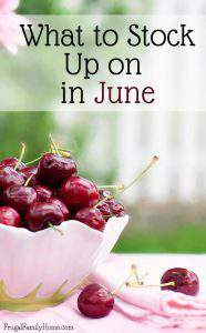 What to buy in June- a quick list of items that are on sale, marked down or on clearance in June. Save money by stocking up on items while they are on sale that you need.