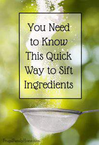 You Need to Know This Quick Way to Sift Dry Ingredients