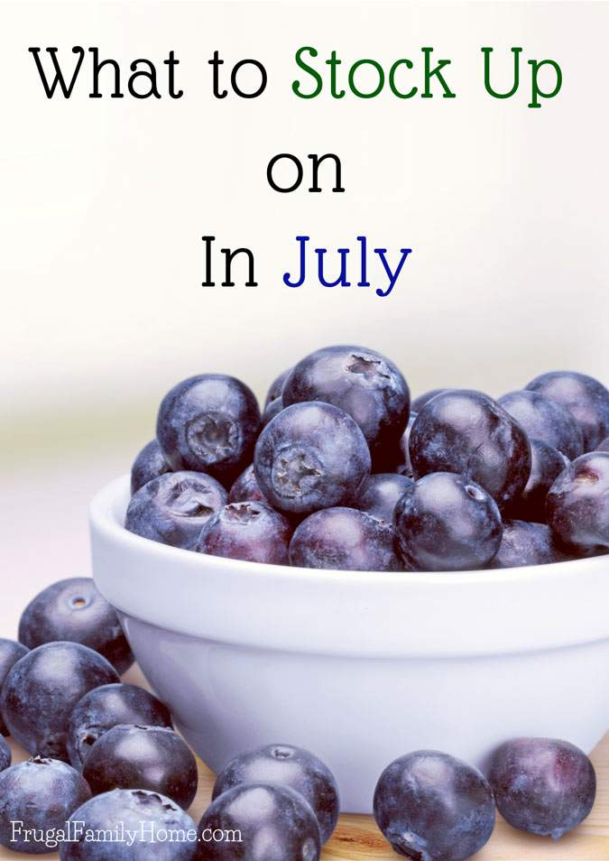 What to buy in July- a quick list of items that are on sale, marked down, or on clearance in July. Save money by stocking up on items while they are on sale that you need.
