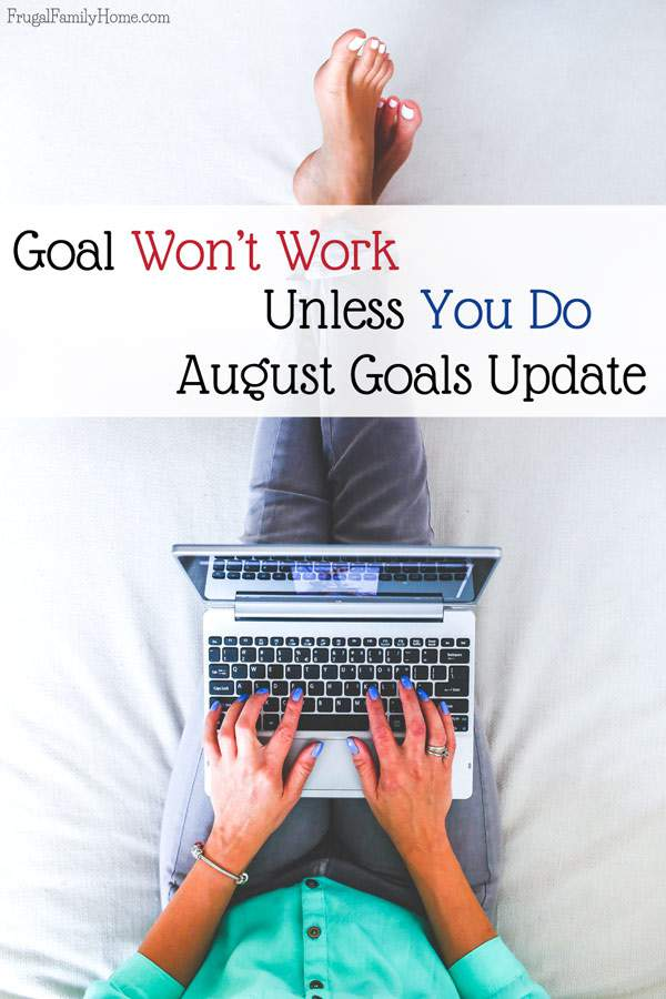 This month's goals and an update on July's goals too.