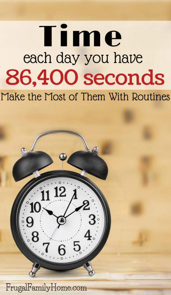Time is Precious! Each day you are credited with 86,400 seconds, there's no go backs no repeats, you must live in the present and make the most of your day. Don't drift from one thing to the next instead live intentionally. I've found I can make the most of my 86,400 seconds each day with routines. Routines give me more freedom than a traditional schedule but also enough structure to focus me so I can get the most important things done each day. Come see how you can make the most of your day with routines.