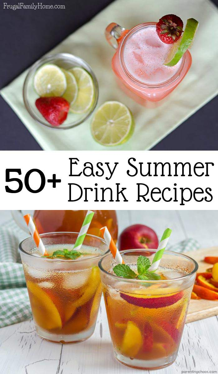 When it's hot out it good to have a refreshing drink to enjoy and cool down. Quench your thirst with one of these 50+ nonalcoholic drink recipes. This collection of easy recipes are perfect for every day or even for a summer party. Find your new summer favorite from this list.