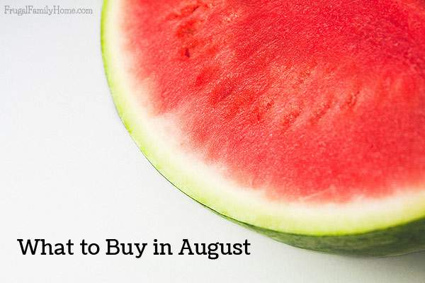 What to buy in August- a quick list of items that are on sale, marked down, or on clearance in August. Save money by stocking up on items while they are on sale that you need.