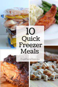 10 Easy and Quick Freezer Meals Your Family will Gobble Up