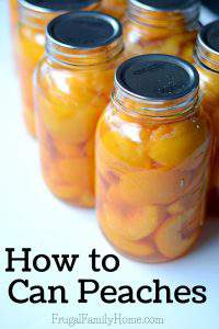 How to Can Peaches, Step by Step Instructions