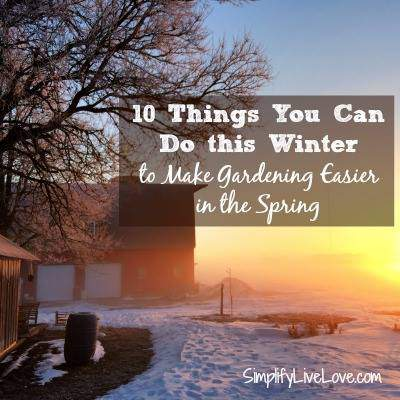 10 Things you can do this winter to prepare the garden for spring.