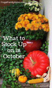 What to buy in October- a quick list of items that are on sale marked down, or on clearance in October. Save money by stocking up on items while they are on sale that you need.