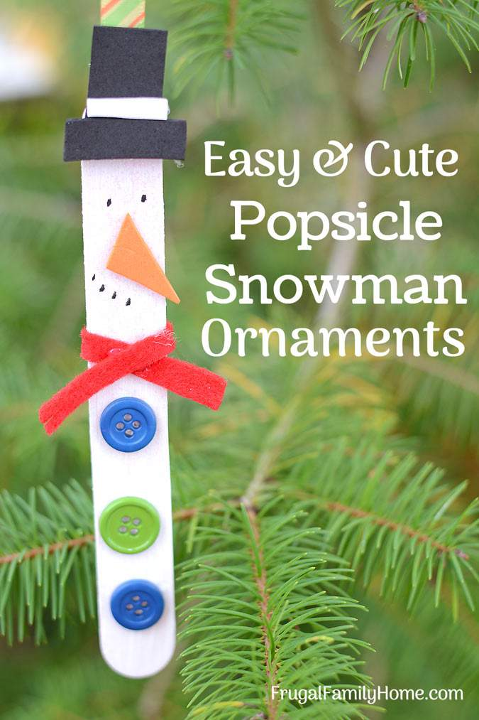 Snowman Ornaments Cute And Easy To Make Frugal Family Home